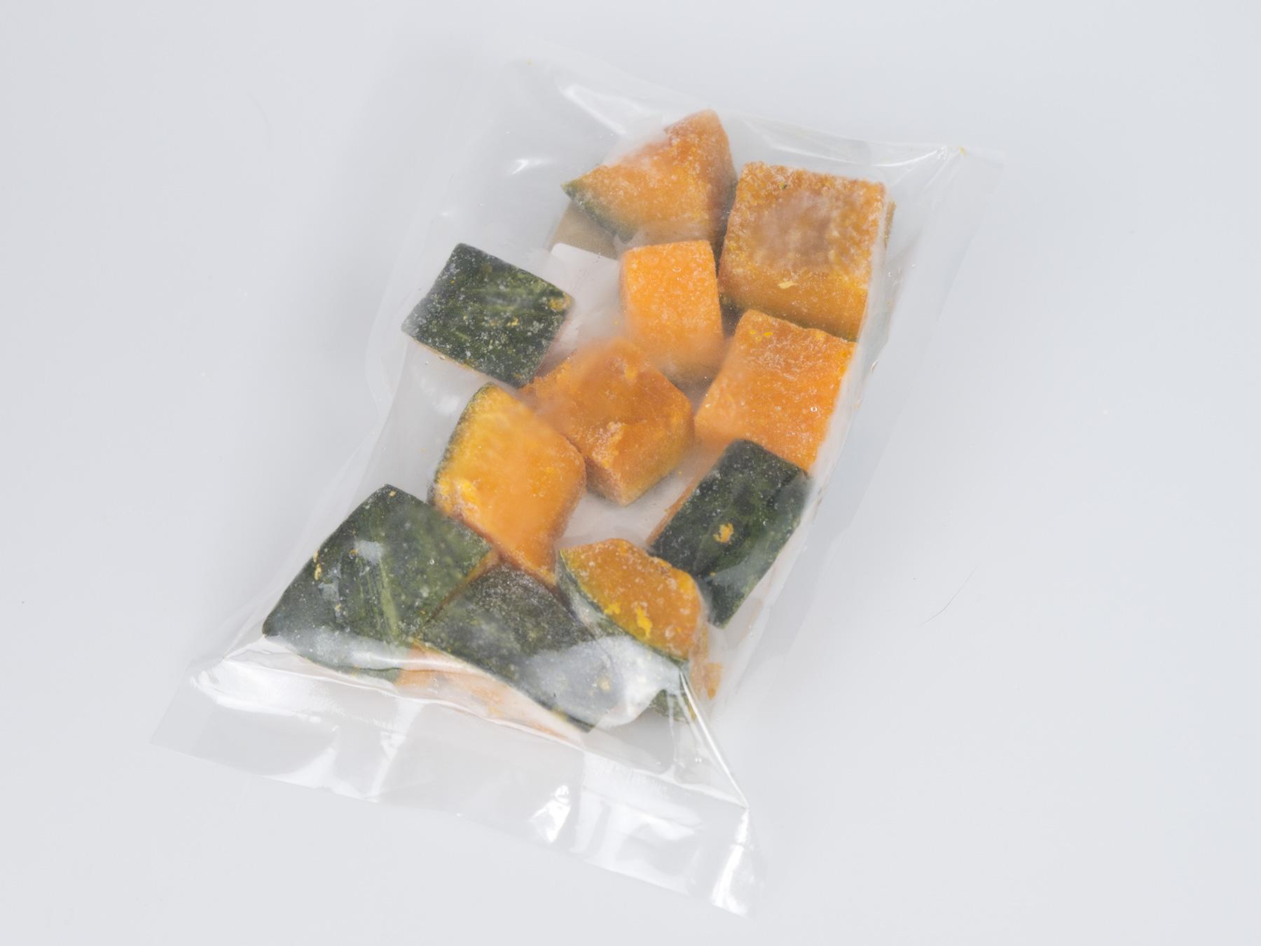 じっくり蒸したかぼちゃブロック 冷凍